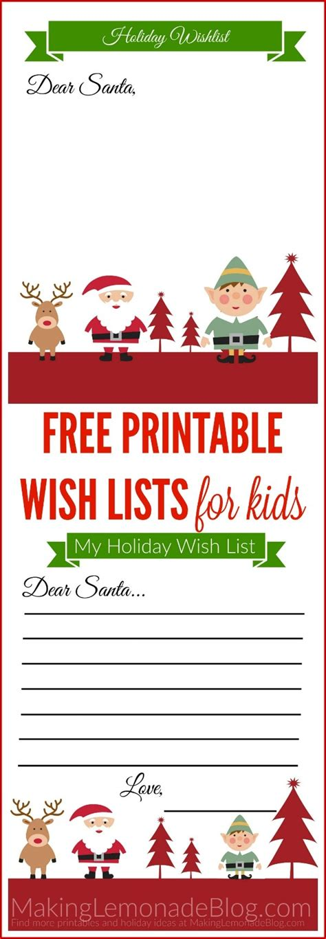 christmas wish list 2018 12 year old free printable list template for exles and forms
