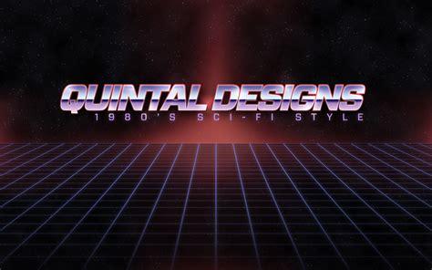 80s typography tutorial retro 80 s sci fi logo in photoshop