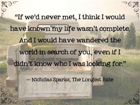 to a i t met books nicholas sparks the ride this is my favorite
