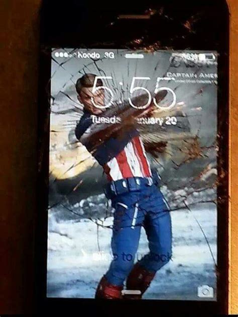 captain america wallpaper cell phone creative ways people deal with their broken phone screens