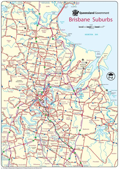 suburbs of map brisbane suburbs map
