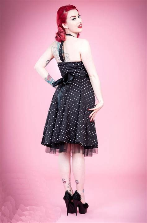 black and white polka dot swing dress h r london black and white polka dot swing dress