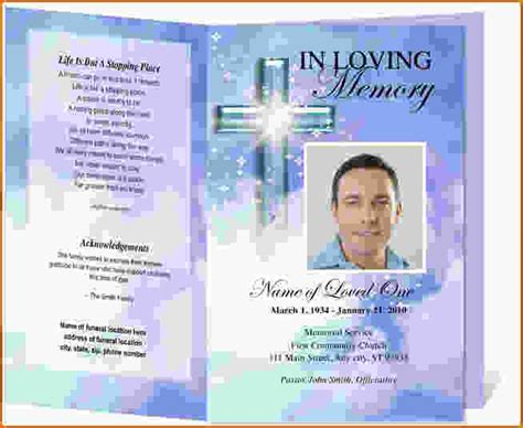template for funeral program free free funeral programs to print search engine at