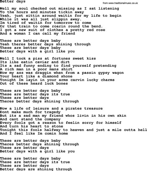bruce springsteen better days bruce springsteen song better days lyrics