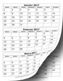 three month calendar template word printable 2017 calendar three months per page