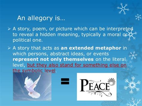 exle of allegory allegory