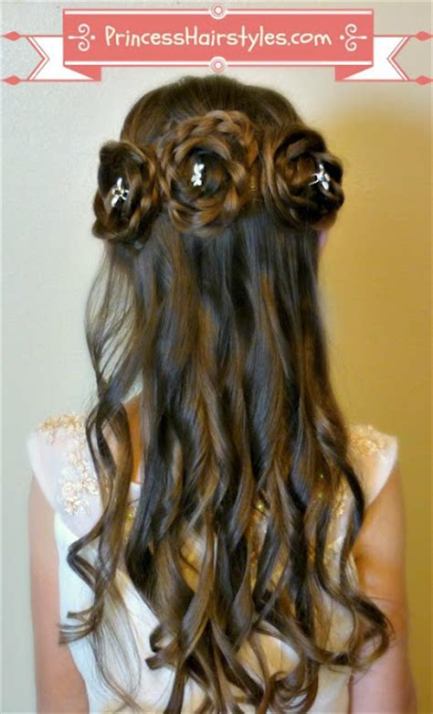 flower girl hairstyles half up half up rosette buns flower girl hairstyles hairstyles