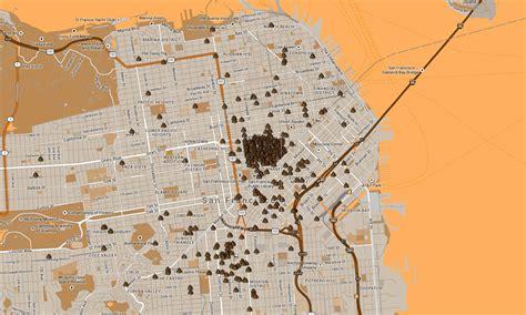san francisco excrement map map of human excrement in san francisco boing boing