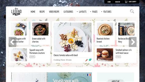 best layout editor wordpress best food and recipes wordpress themes to taste culinary blog