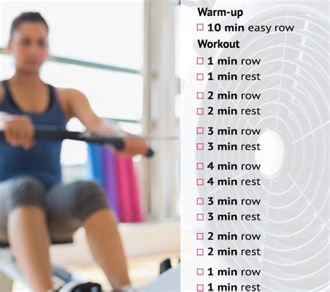 Weight Loss Exercise Rowing 14 rowing machine workouts to lose weight