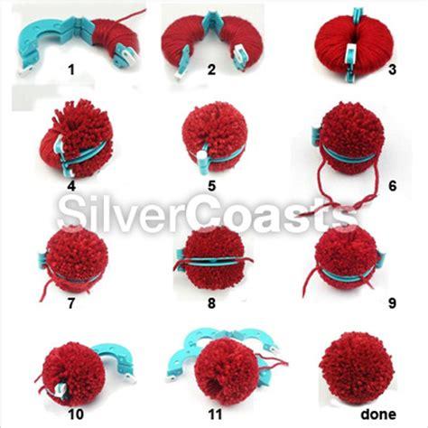 Pom Pom Kertas Uk 9cm pompom makers 8 pieces 4 sizes pom poms knitting crafts