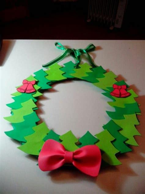 manualidades de pinteres para navidad corona de 225 rboles de goma eva navidad navidad 2014