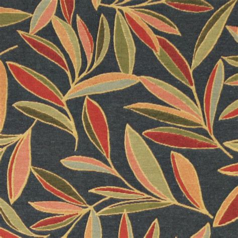Leaf Upholstery Fabric by Green And Blue Foliage Leaves