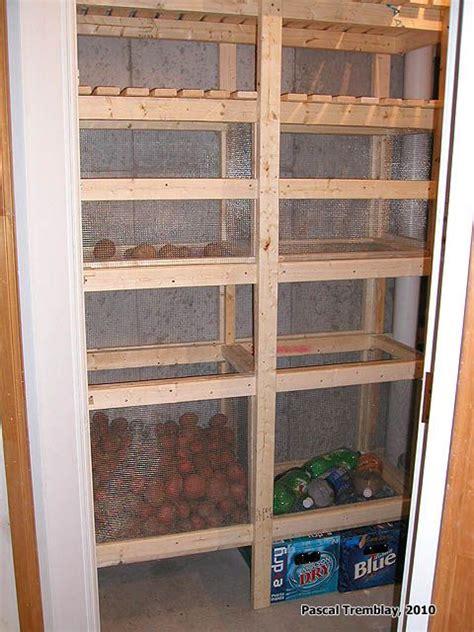 Shelf Of A Potato building cold storage unit home storage ideas storage