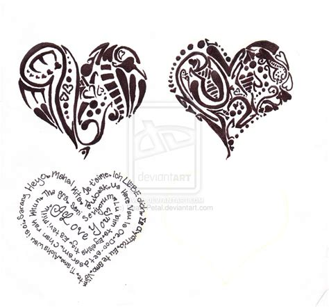 three heart tattoo designs tattoos and designs page 116