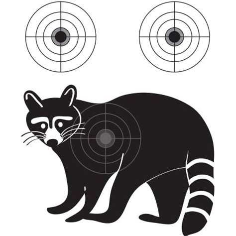 printable varmint targets raccoon varmint gun practice targets walmart com