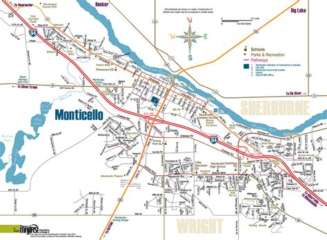 Monticello Map Gallery