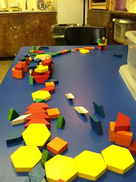 pattern blocks math playground anticipatory web tree study mural pattern blocks