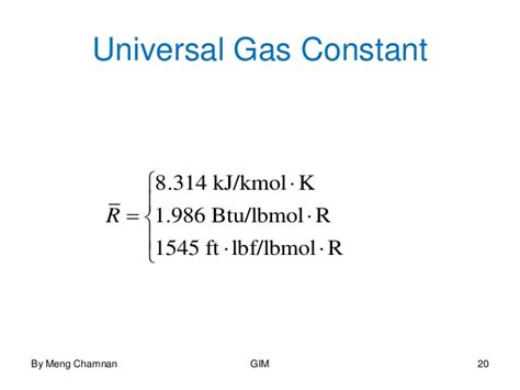 universal gas constant evaluating properties for mechanical and industrial