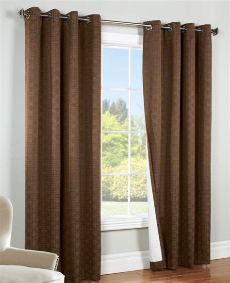 brown grommet curtain panels commonwealth irongate blackout grommet top curtain panel