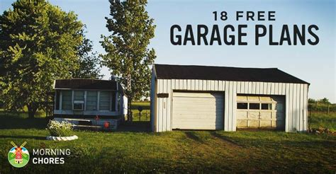 free 3 car garage plans 18 free diy garage plans with detailed drawings and