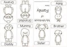 cut and paste kids family worksheets my family