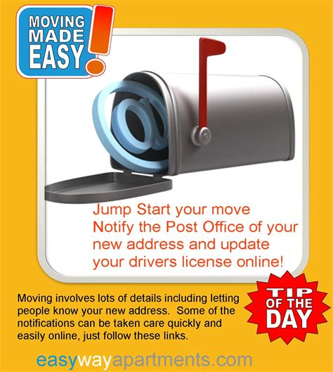 Change Of Address At Post Office by Who To Notify When You Move Premier Residential