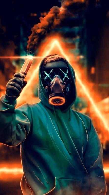 mask guy  smoke wallpaper cool wallpapers  phones