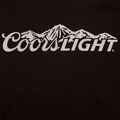 coors light blue mountains coors light mountains logo women s shirt