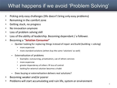 problem solving concepts and approach for systems and strategies