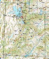 topographical map of utah utah maps and state information
