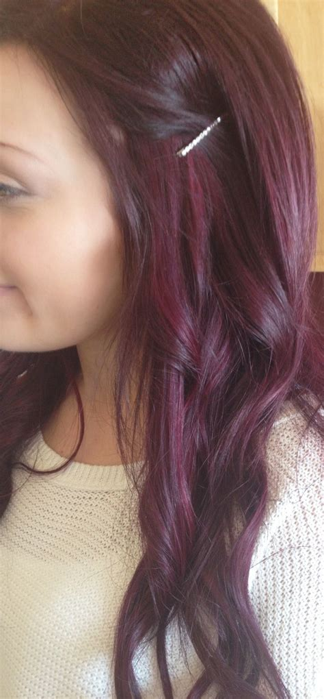 cute color hairstyles tumblr purple burgandy red hair love love love cute hair