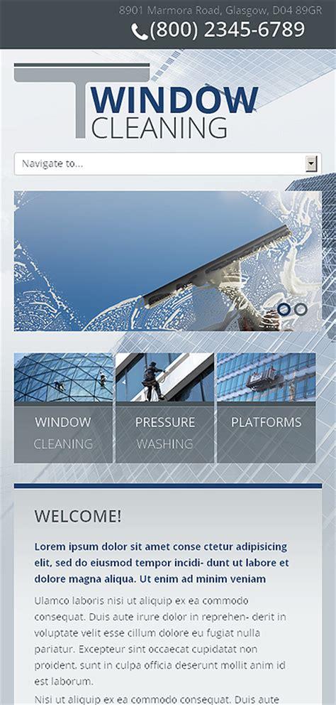 window cleaning responsive website template web design