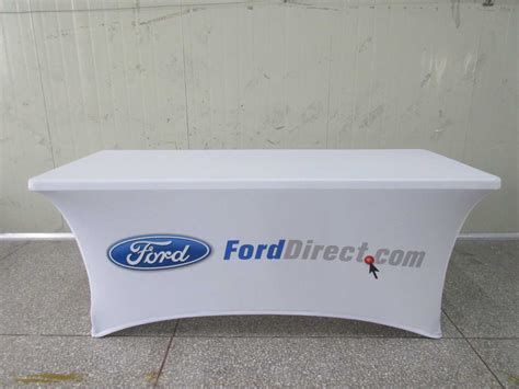 company logo table cover printed tension spandex stretch tablecloths free shipping