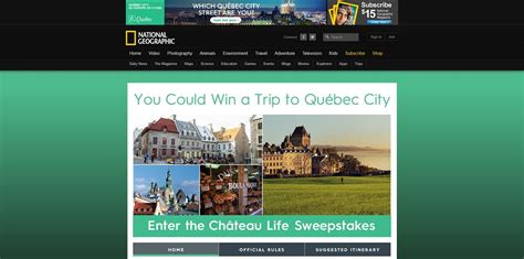 qu 233 bec city chateau life sweepstakes - Quebec Sweepstakes