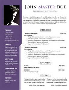Resume Template Doc by Resume Template Doc Learnhowtoloseweight Net