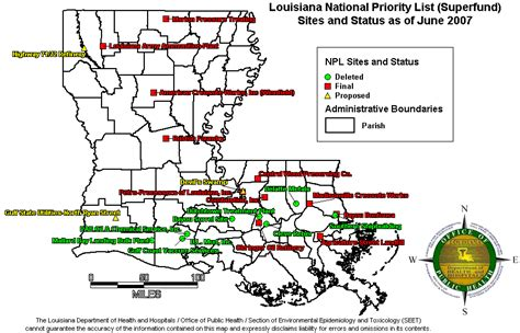 superfund site map superfund sites in louisiana