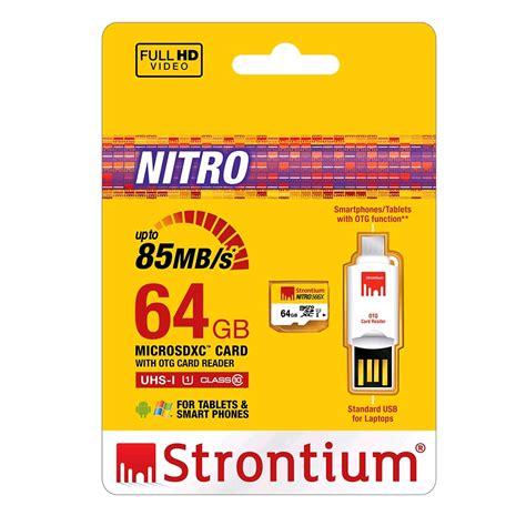 Termurah Microsd Strontium Nitro 16gb Speed 433x 65mb S strontium nitro 566x microsdxc card otg card reader 64gb up to 85mb s uhs 1 deals