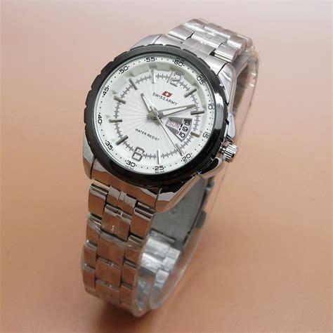 Jam Tangan Swiss Army Model Kotak swiss army jam tangan pria wanita rantai 10 model date