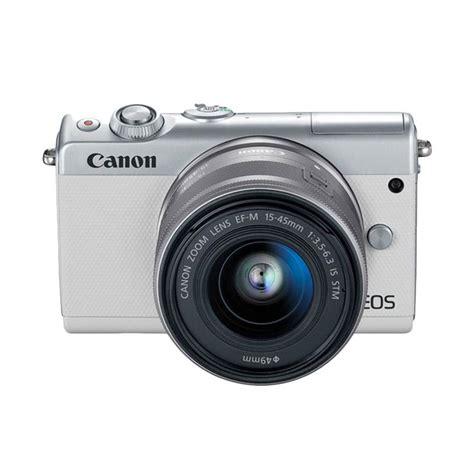 Kamera Canon Eos M Kit jual canon eos m100 kit ef m 15 45mm ef m22 stm kamera