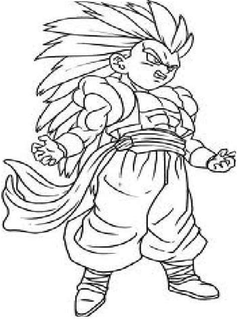 dragon ball z gotenks coloring pages n gotenks colouring pages