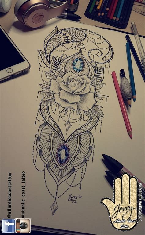 mandala tattoo gold coast best 25 lace thigh tattoos ideas on pinterest blue rose