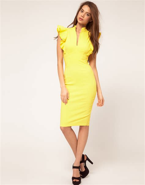 02 Dress Tali Ribbon Yelow 2012 trend alert yellow s fashion