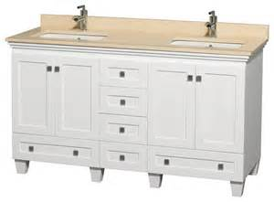 60 Bathroom Vanity Countertop 60 Quot Bathroom Vanity In White Ivory Marble