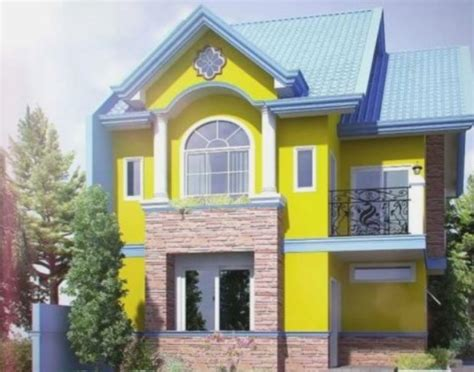 warna cat rumah modern  bagus  terbaru oliswel