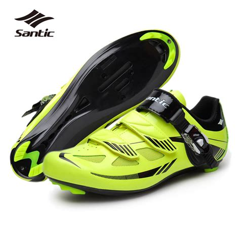 best road bike shoes for santic mens road cycling shoes pu mesh breathable road