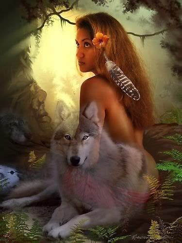 native american wolf spirit american woman with wolf spirit photo shamanic pinterest