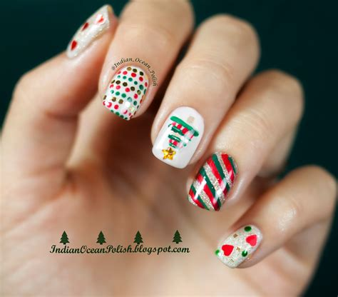 christmas pattern nails indian ocean polish christmas 2013 nail art ideas simple