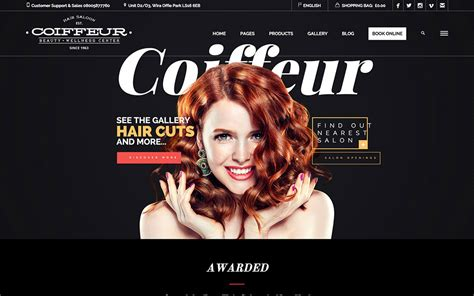 exles of hair websites 40 best spa beauty hair salon wordpress themes 2016