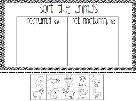 printable nocturnal animal book mrs black s bees nocturnal animals